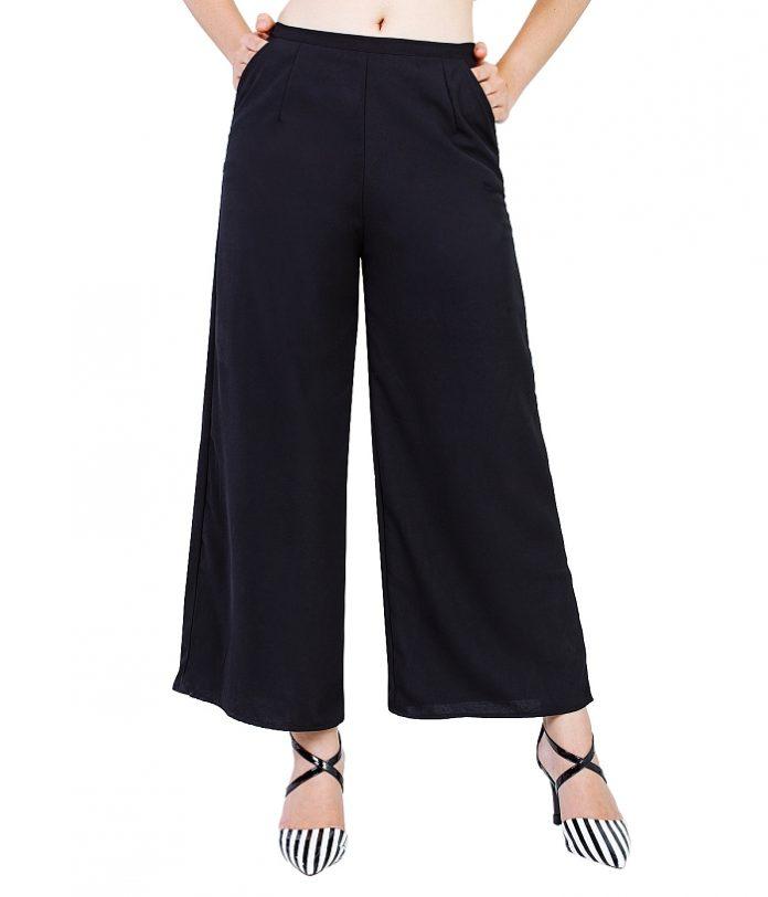 cách phối đồ với quần ống rộng mặc với áo gì 7