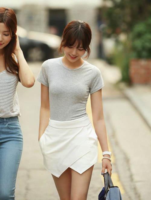 Nguyên tắc phối đồ với quần short trắng các nàng cần thuộc lòng 3