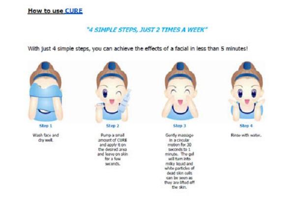 4 bước cách sử dụng gel tẩy da chết cure