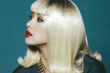 kiểu tóc màu bạch kim 123