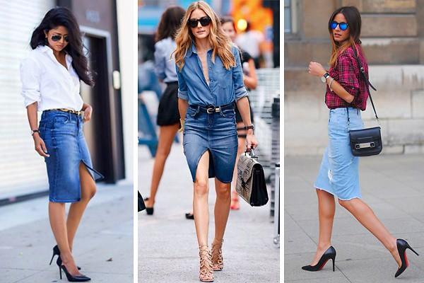 Chân váy jean kết hợp với giày gì cho đẹp nhất?