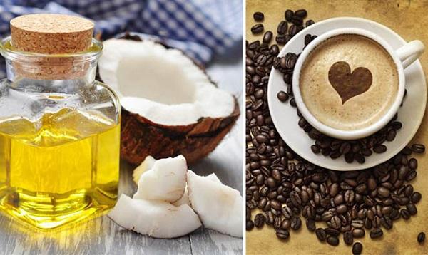 Tẩy tế bào chết bằng cà phê và dầu dừa