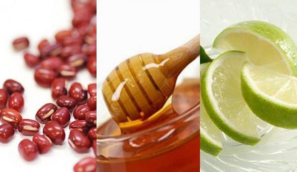 Công thức trị mụn với bột đậu đỏ, mật ong và chanh