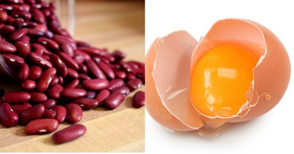 Cách trị mụn với bột đậu đỏ và trứng gà