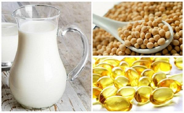 Mặt nạ bột đậu nành và sữa tươi không đường
