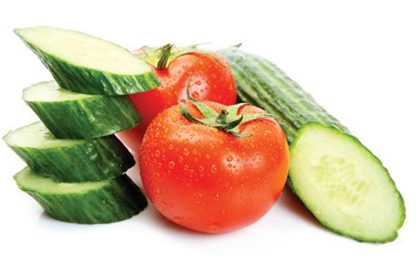 Mặt nạ dưa chuộtvà cà chua