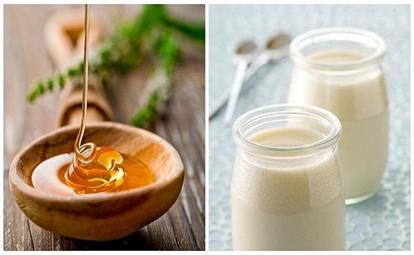 Dưỡng trắng da mặt bằng mật ong và sữa chua