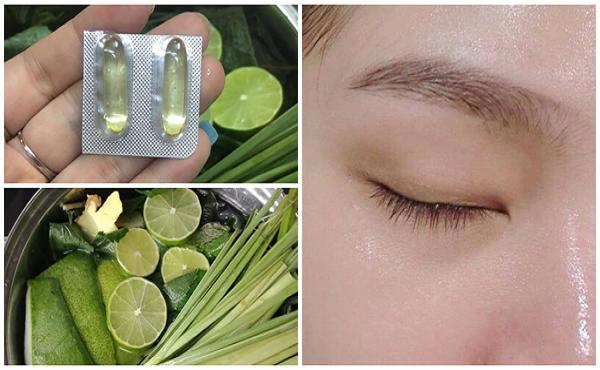 Xông mặt bằng sả vitamin E
