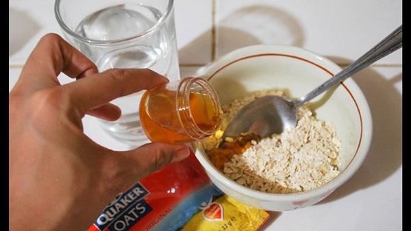 Mặt nạ yến mạch, mật ong và Vitamin E