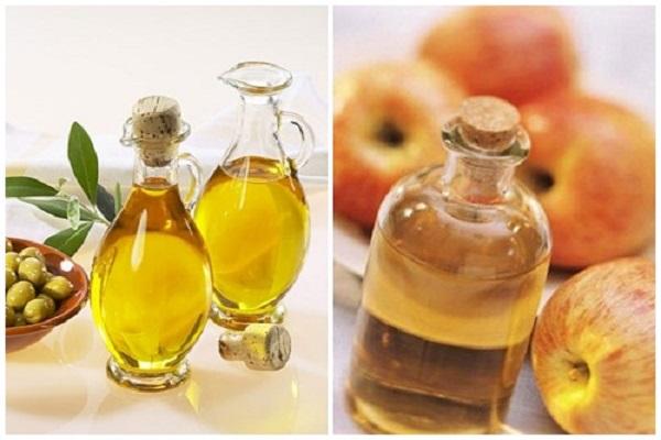 Mặt nạ dầu oliu và giấm táo