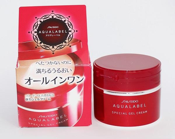 Kem chống lão hóa da tuổi 50 - Shiseido Aqualabel Special Gel Cream đỏ