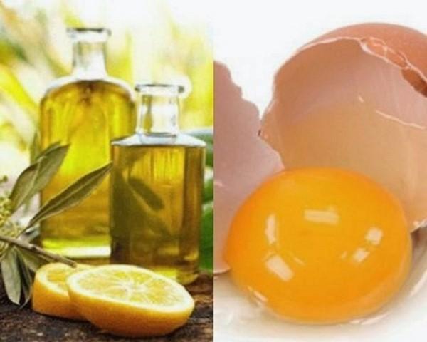 Mặt nạ dầu oliu và trứng gà, chanh