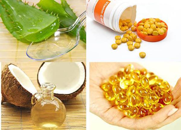 Nguyên liệu làm mặt nạ nha đam và vitamin e