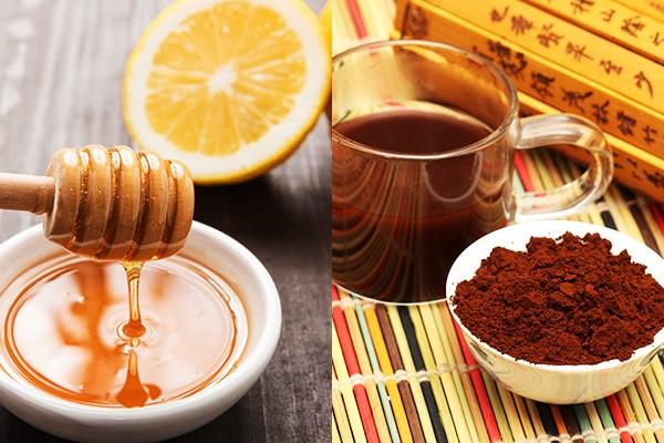 Tẩy da chết bằng cafe và mật ong, chanh