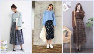 Chân váy dài vintage phối với áo gì? Các outfit dự đoán lọt top trending thời gian tới